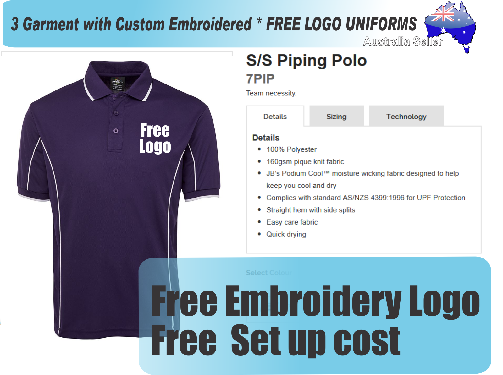 Embroidery Logo Placement On Polo Shirt